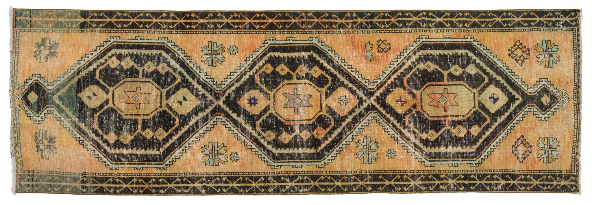 Vintage Turkish Runner Rug Maile