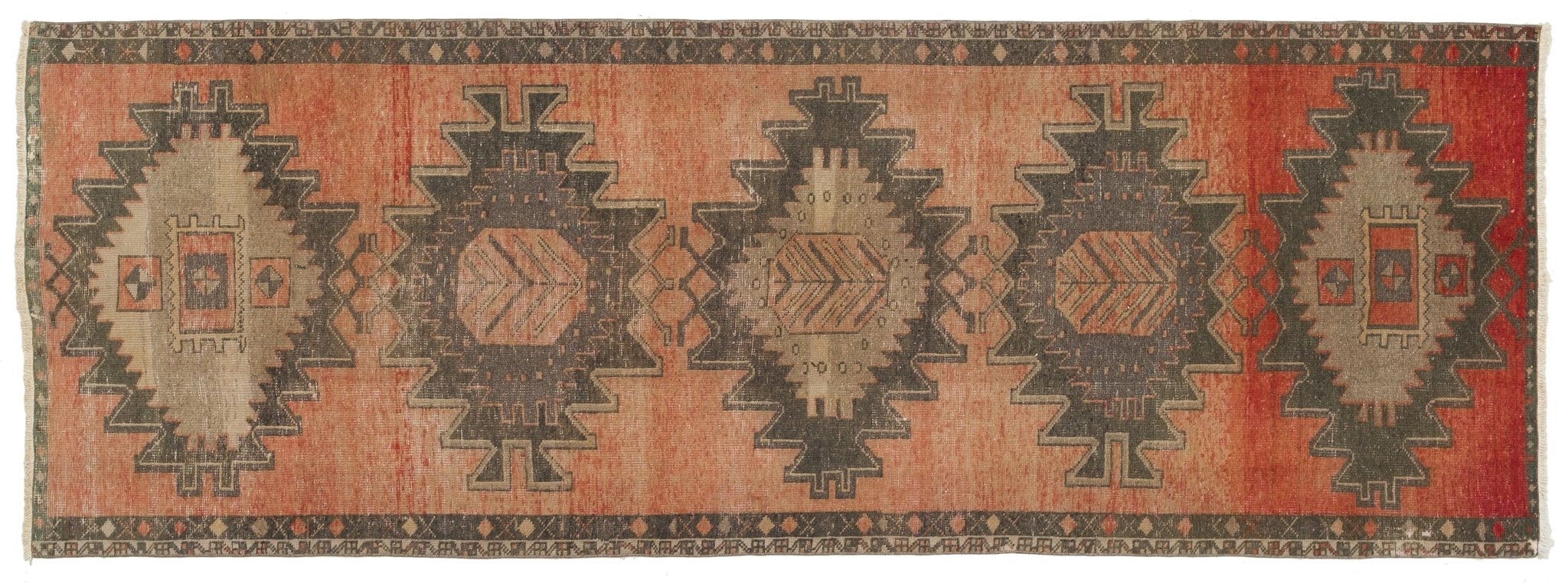 Vintage Turkish Runner Rug Ertila