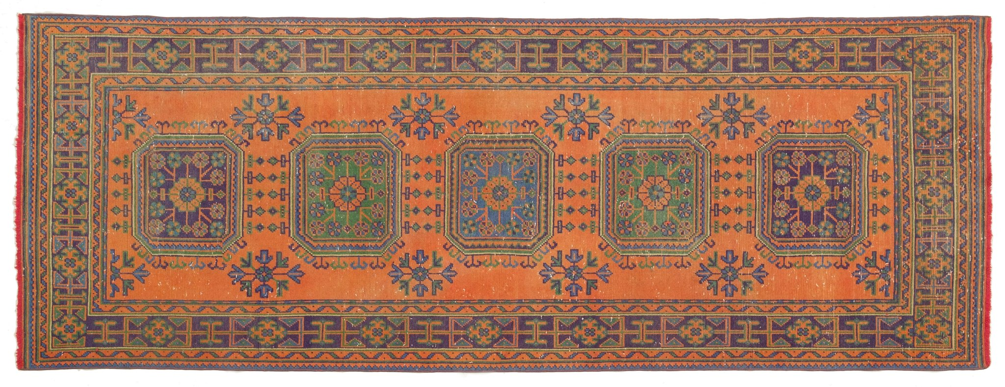 Vintage Turkish Runner Rug Apolinario