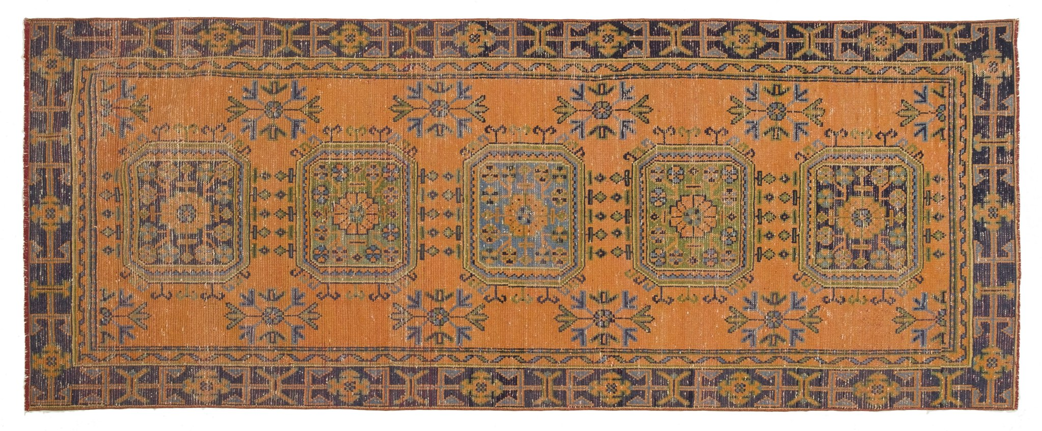 Vintage Turkish Runner Rug Rosfridur