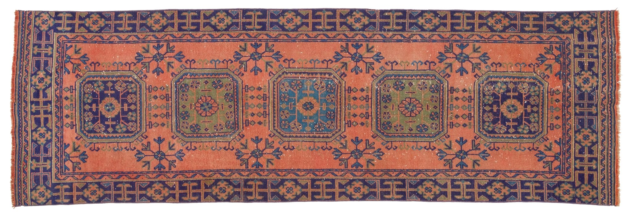 Vintage Turkish Runner Rug Neculae