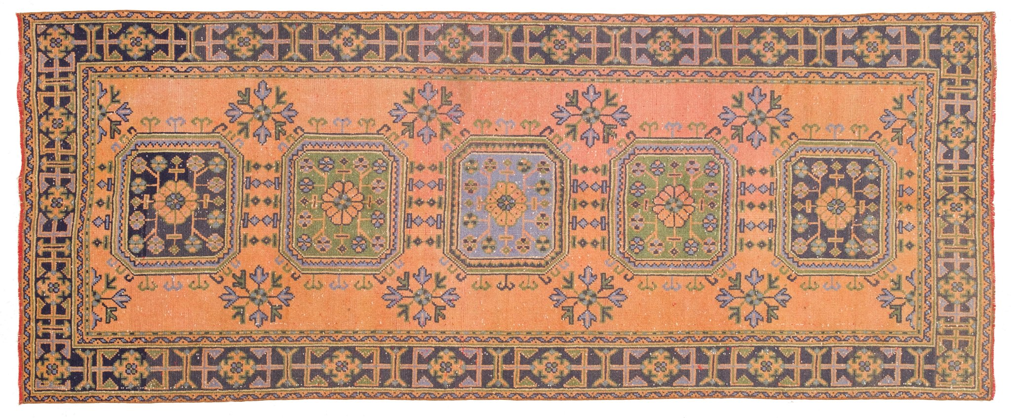 Vintage Turkish Runner Rug Alve