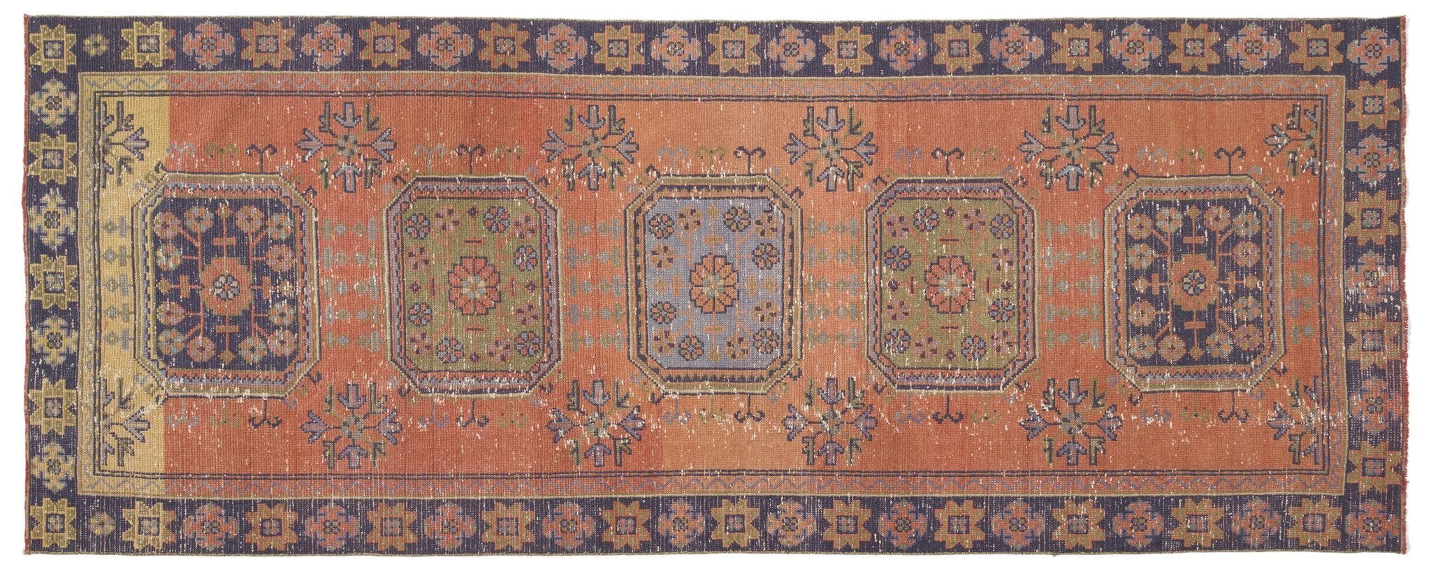 Vintage Turkish Runner Rug Amer