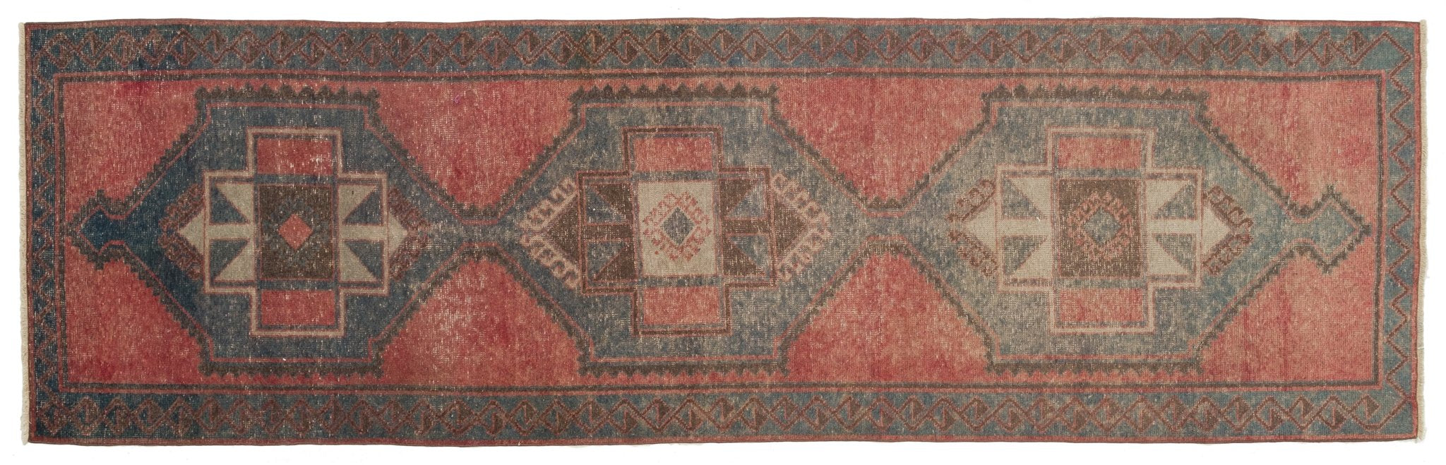 Vintage Turkish Runner Rug Bortolo