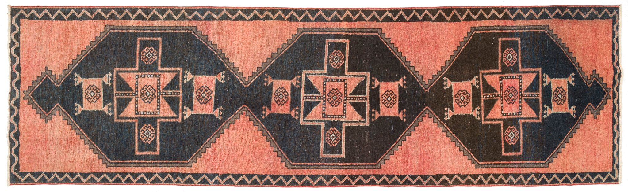 Vintage Turkish Runner Rug Armann