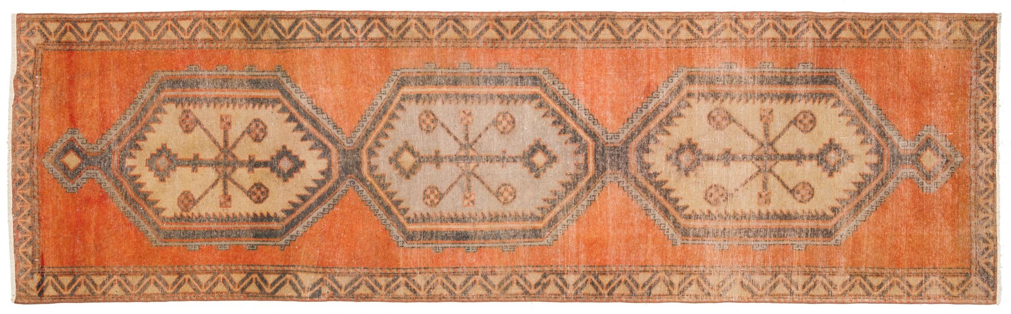 Vintage Turkish Runner Rug Aneliya