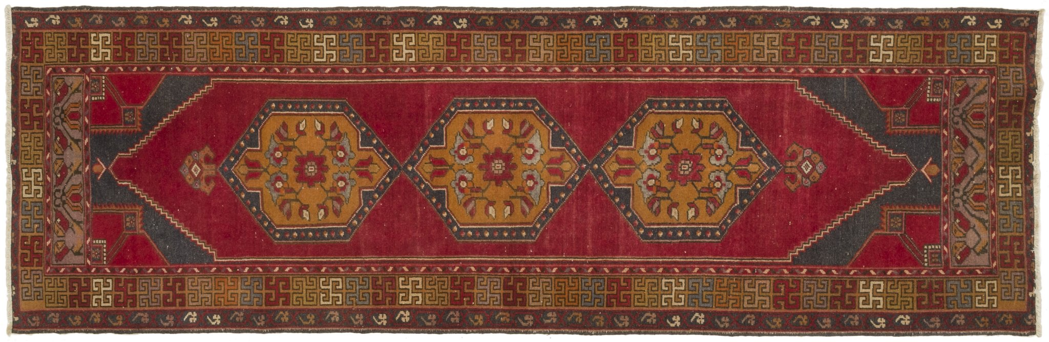 Vintage Turkish Runner Rug Devleta
