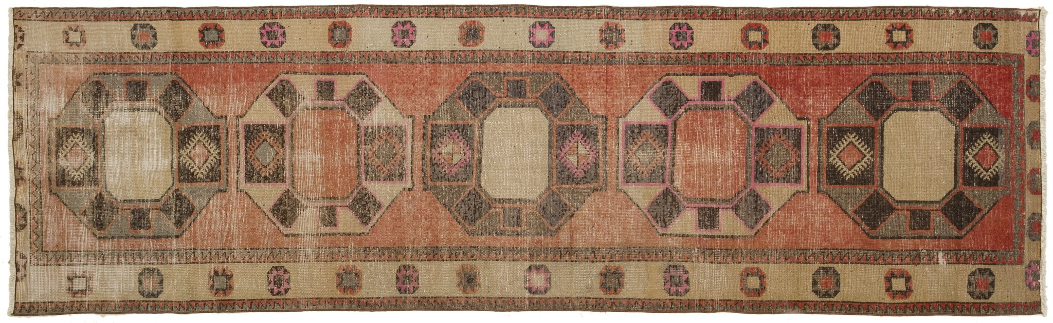 Vintage Turkish Runner Rug Gustawa