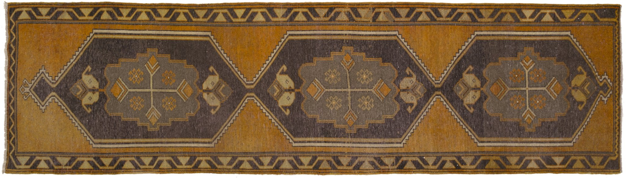 Vintage Turkish Runner Rug Ademar