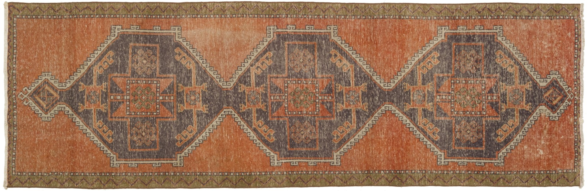 Vintage Turkish Runner Rug Altti