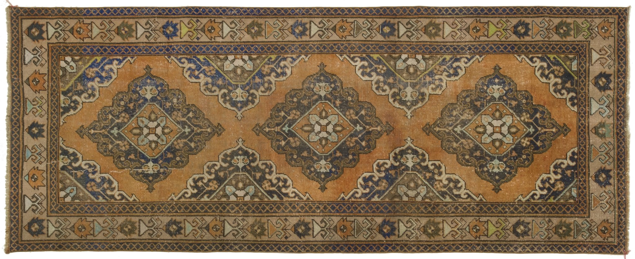 Vintage Turkish Runner Rug Riekie