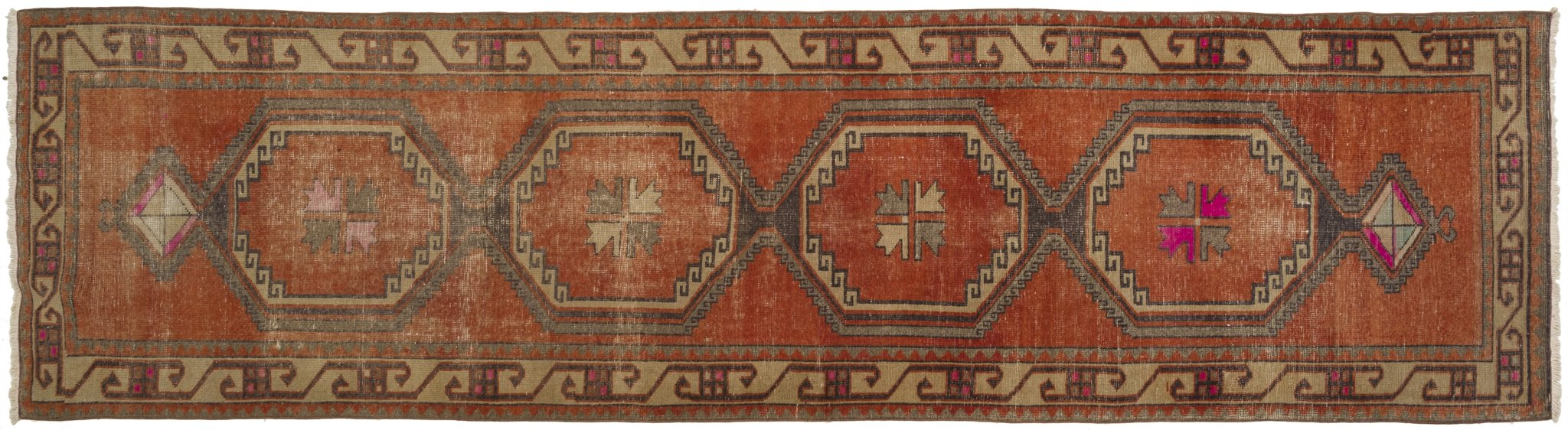 Vintage Turkish Runner Rug Afanasii