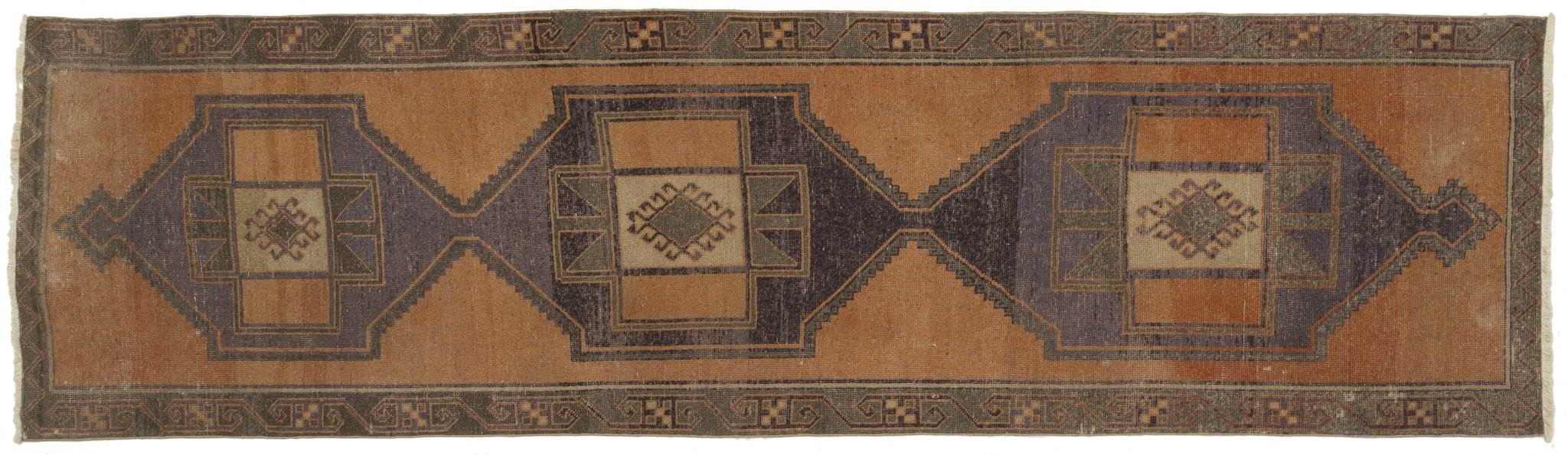 Vintage Turkish Runner Rug Uberto