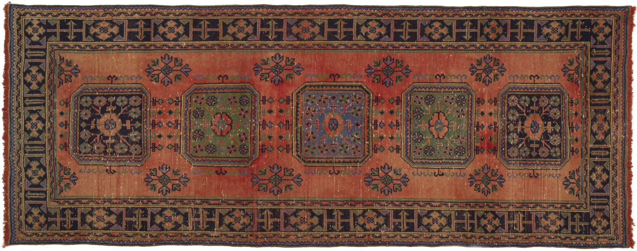 Vintage Turkish Runner Rug Bohumir