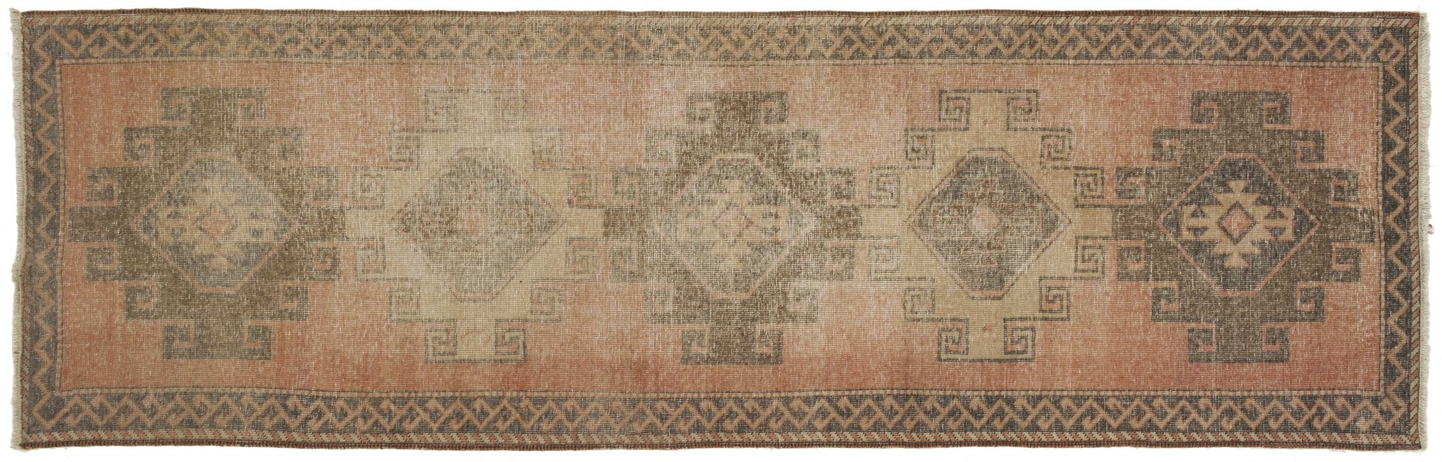 Vintage Turkish Runner Rug Costan