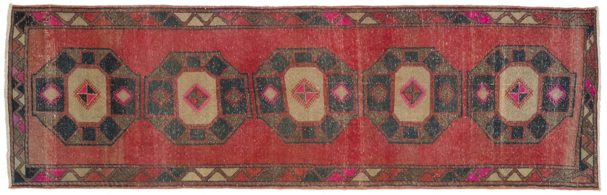 Vintage Turkish Runner Rug Faten