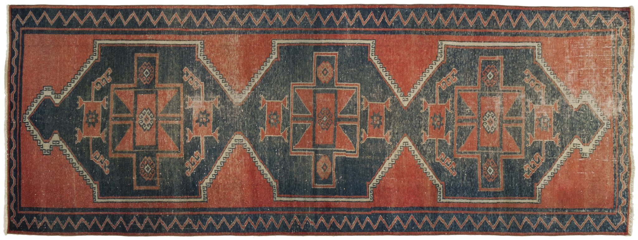 Vintage Turkish Runner Rug Aikaterini
