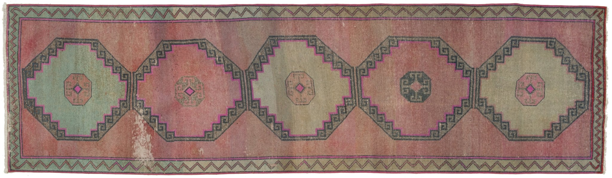 Vintage Turkish Runner Rug Aroldo