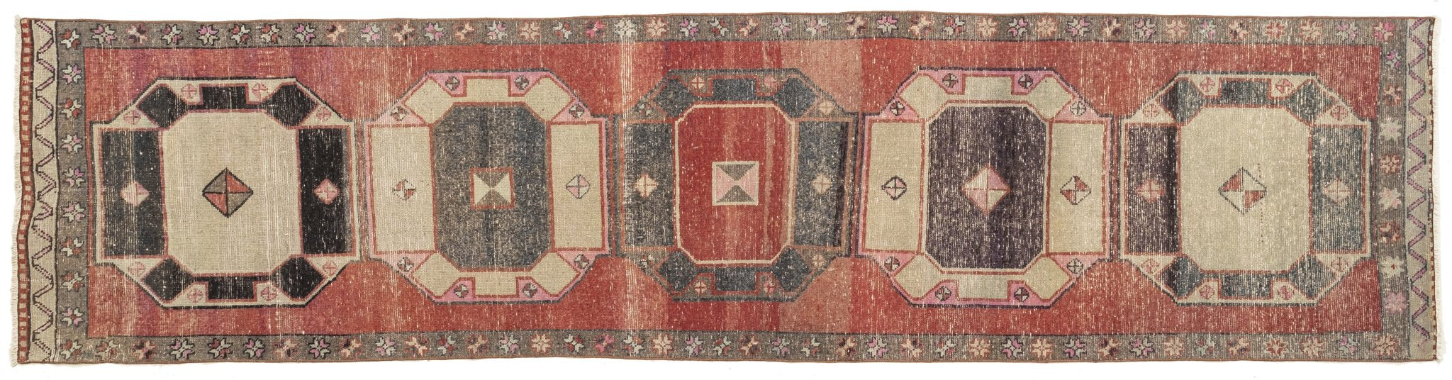 Vintage Turkish Runner Rug Josien