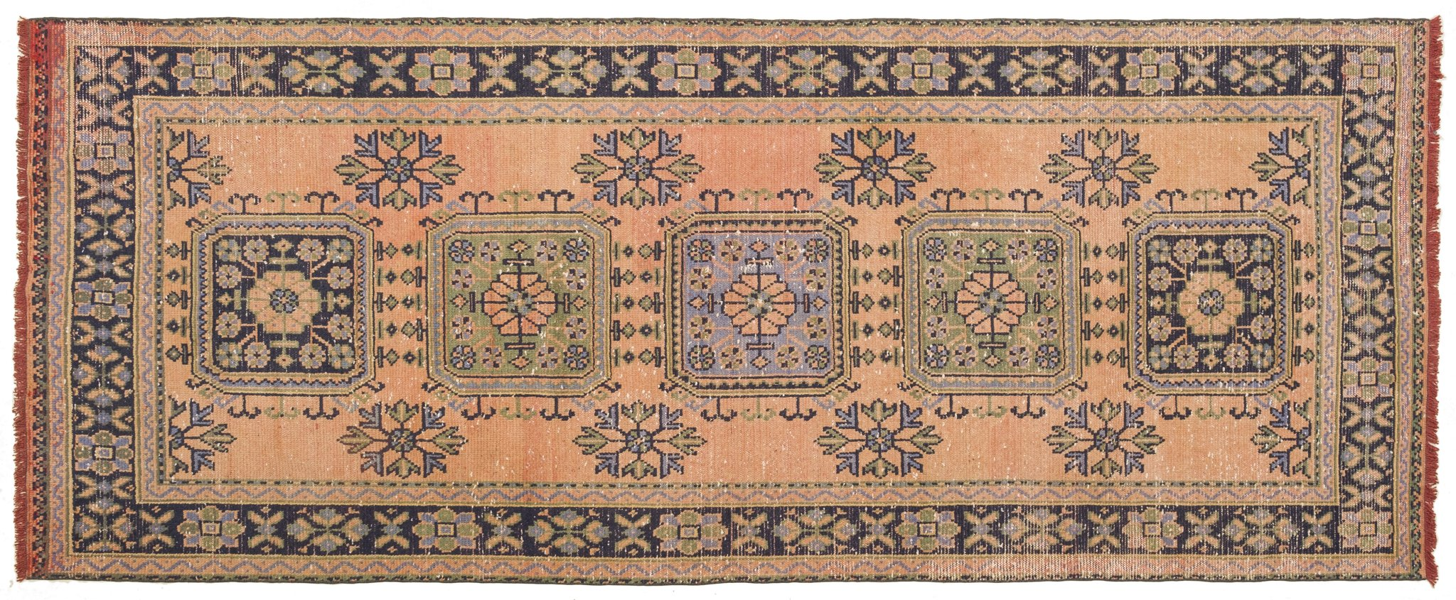 Vintage Turkish Runner Rug Bertlinde