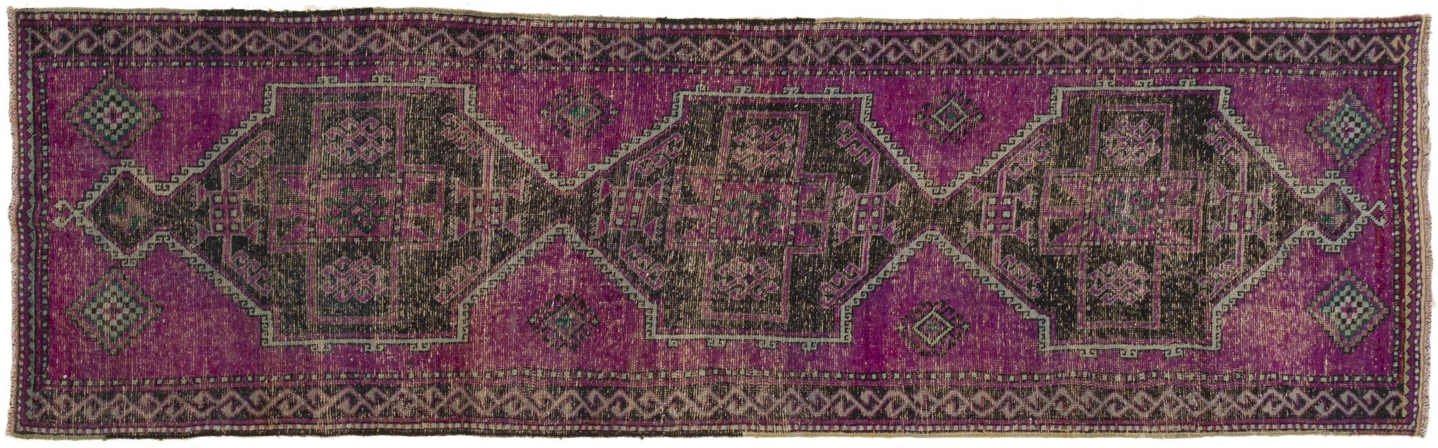 Vintage Turkish Runner Rug Andro