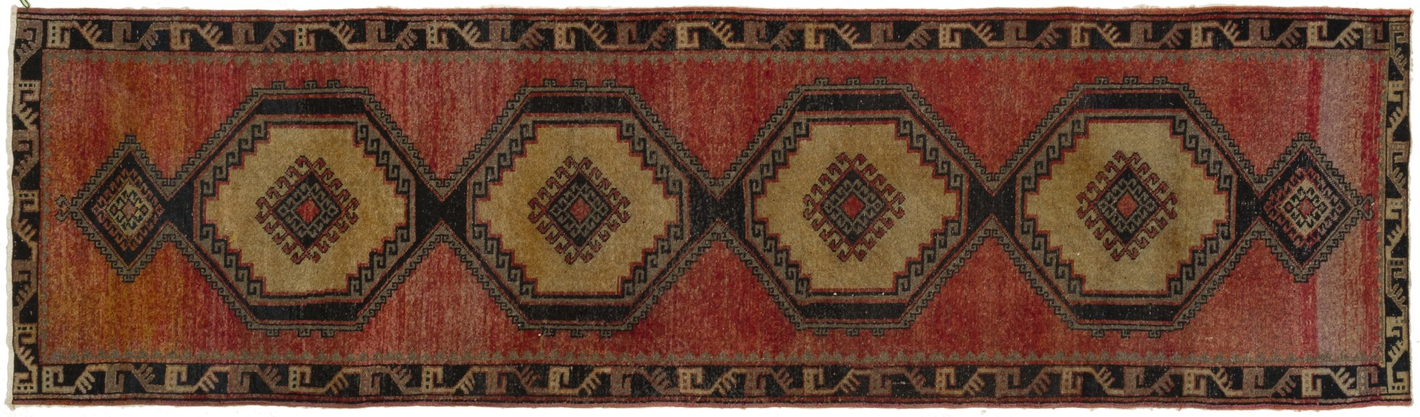 Vintage Turkish Runner Rug Annaleena