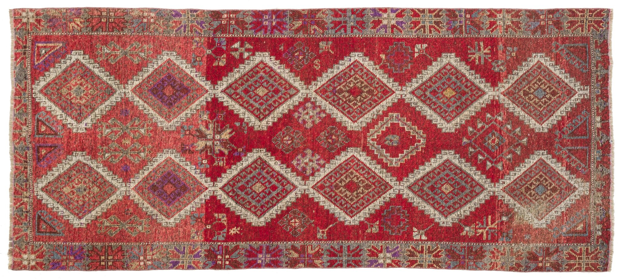 Vintage Turkish Runner Rug Narsutis