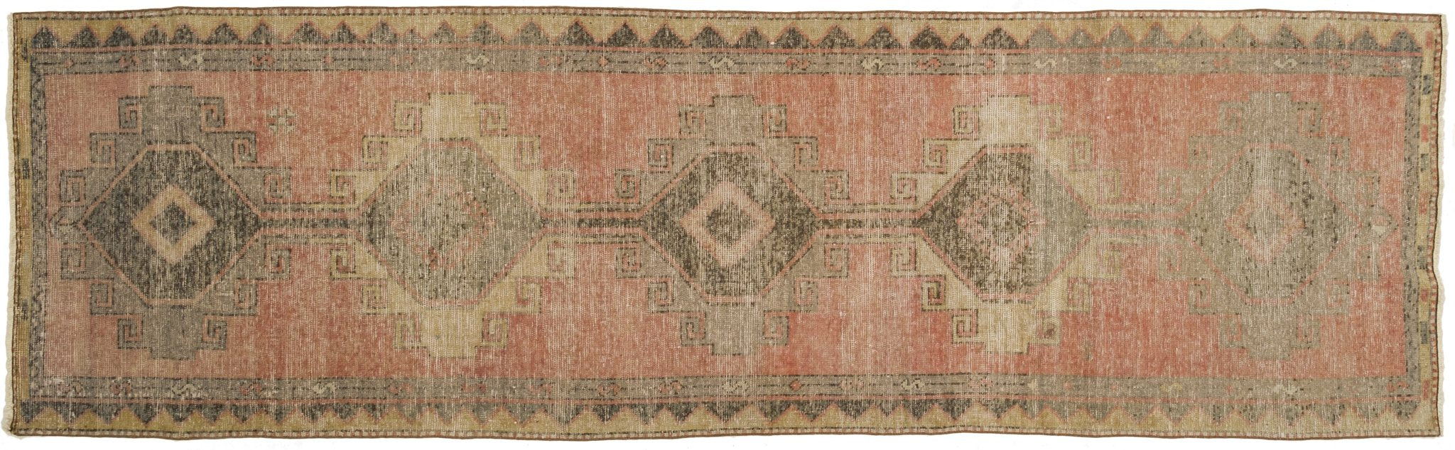 Vintage Turkish Runner Rug Dorli