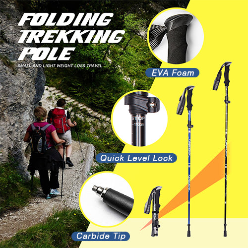 TrekkBuddy™ Collapsible Anti-Shock Lightweight Adjustable Pole