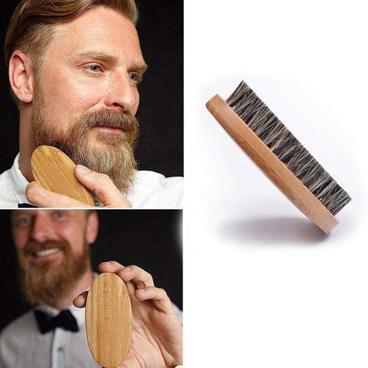Bearded Knights™ Wild Boar Bristle Brush