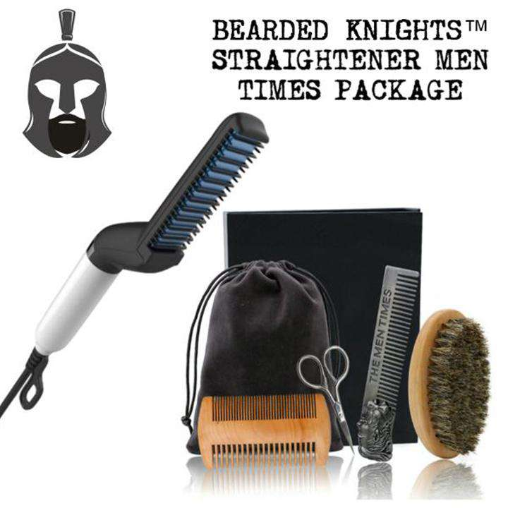 Bearded Knights™ Straightener Comb Men Times Package