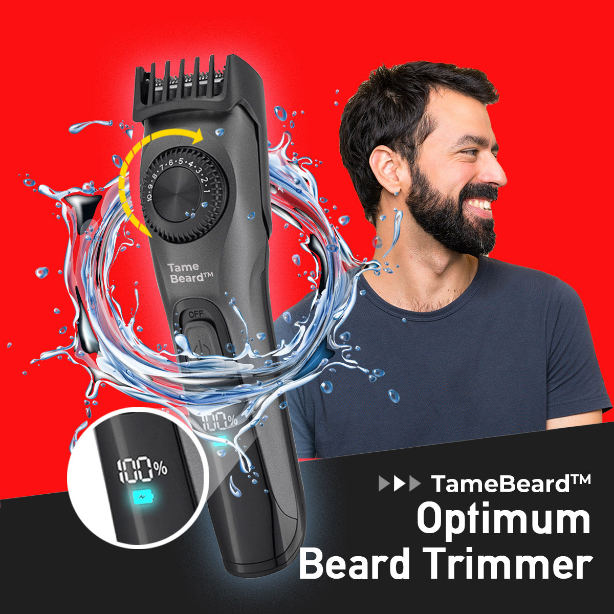 TameBeard™ Optimum Stubble Adjustable Trimmer