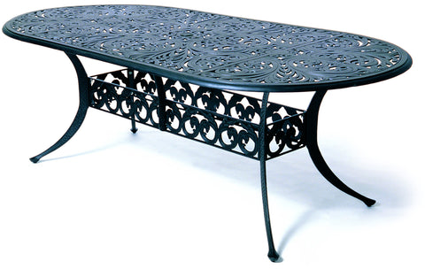 "Chateau Oval cast aluminum 84"" Dining Table"