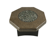 "Tropical Brown Granite 32"" Octagon outdoor Fire pit"