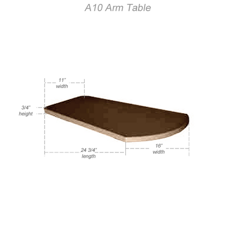 Arm Table for Outdoor CRP Adirondack Chairs