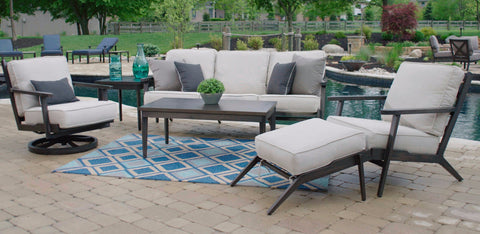 Adeline Outdoor Aluminum Seating Group