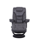 Alma Chair and Ottoman - Black