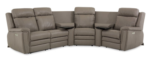leather reclining sectional, sectionals for sale rochester ny, triple power sectional, furniture, living room furniture