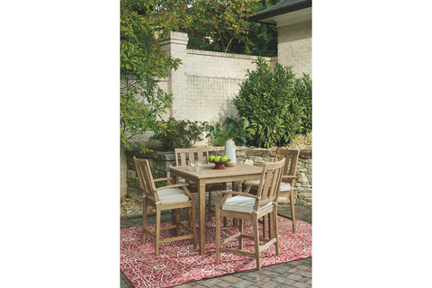 Clare View 5 Piece Pub Set Ashley Furniture Outdoor Pub Set