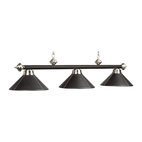 Billiard Light 3 shade B54-LTHR BLK