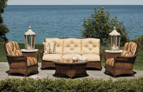 Grand Traverse Outdoor Wicker Sofa Outdoor Furniture Clover Home
