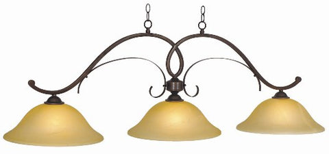 Billiard Light 3 shade Hawthorn HAW-B56 ORB