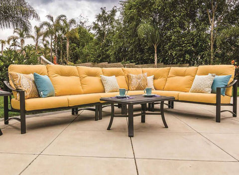 tropitone sectional, outdoor sectionals for sale, aluminum furniture, made in the usa, tropitone furniture rochester ny
