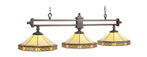 Billiard Light 3 shade Mission Filigree MF-B56