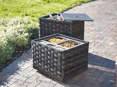 st. kits, outdoor serving trays, outdoor storage, serving karts, carts