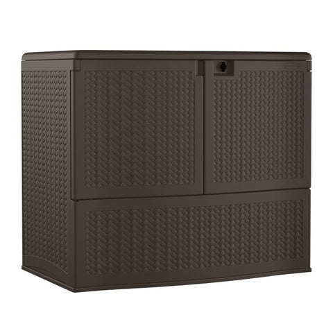 deck boxes, outdoor storage, 195 gallon entertainment and storage stations, suncast