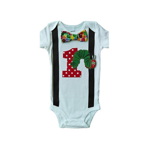 1st Birthday Baby Boys Hungry Caterpillar Bodysuit