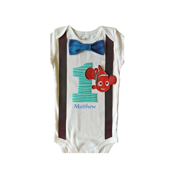 1st Birthday Baby Boys Nemo Bodysuit