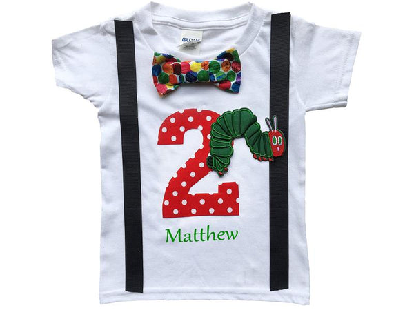 2nd Birthday Baby Boys Hungry Caterpillar Bodysuit