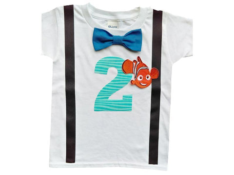 2nd Birthday Baby Boys Nemo Bodysuit